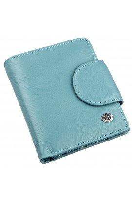 Портмоне для жінок з монетницьою ST Leather 18925 Блакитний
