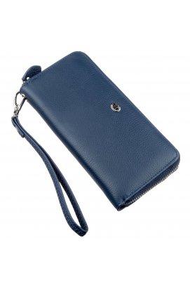 Небольшой женский клатч ST Leather 18929 Синий