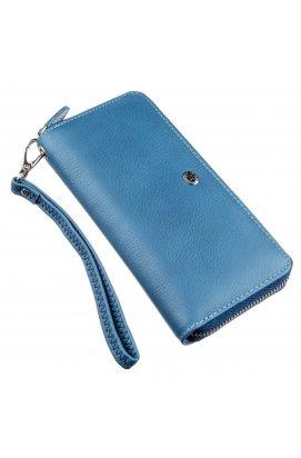 Місткий жіночий клатч-гаманець ST Leather 18934 Блакитний