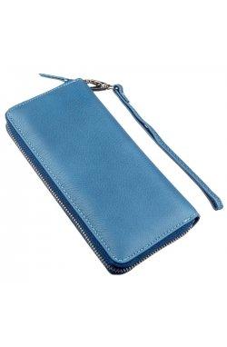 Вместительный женский клатч-кошелек ST Leather 18934 Голубой