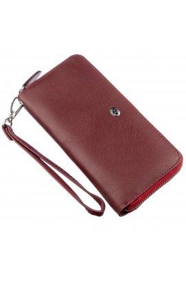 Універсальний клатч-гаманець для жінок ST Leather 18935 Темно-червоний Темно-червоний