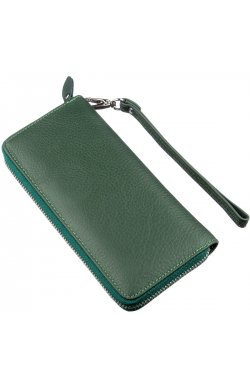 Женский клатч-кошелек на молнии ST Leather 18936 Зеленый