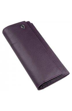 Женский кошелек с визитницей на кнопке ST Leather 18950 Фиолетовый