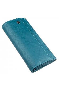 Женский кошелек с визитницей и монетницей ST Leather 18953 Голубой