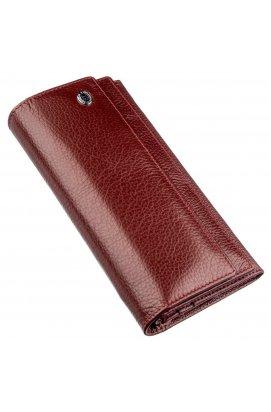 Женский кошелек с монетницей на молнии ST Leather 18956 Темно-красный Темно-красный