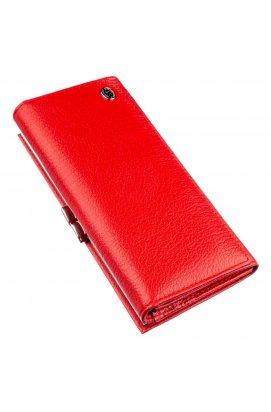 Жіночий гаманець з монетницьою на клямці ST Leather 18957 Червоний Червоний