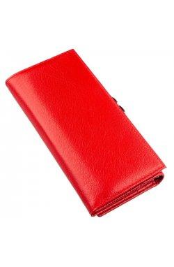 Женский кошелек с монетницей на защелке ST Leather 18957 Красный Красный