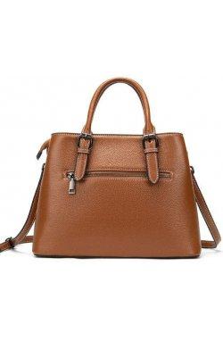 Классическая женская сумка в коже флотар Vintage 14875
