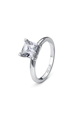 Кольцо для помолвки принцесса из серебра из родированного серебра 925-й пробы с куб. циркониями (12 75 )