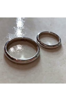 Женское обручальное кольцо из белого золота с серебряной стелькой из белого золота 585-й пробы (11 014)