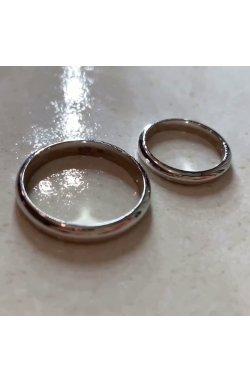 Мужское обручальное кольцо из белого золота с серебряной стелькой .5 из белого золота 585-й пробы (11 154)