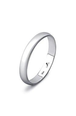 Обручальное классическое кольцо из белого золота из белого золота 585-й пробы (110 24)