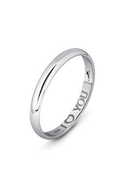 Обручальное кольцо с гравировкой из белого золота из белого золота 585-й пробы (110 14)