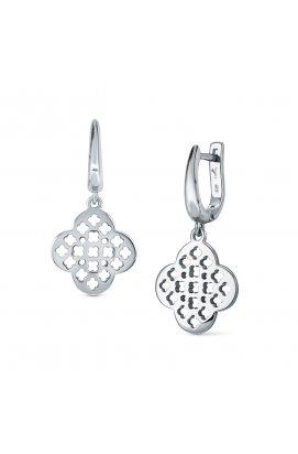 Серебряные серьги рэйчел из родированного серебра 925-й пробы ( )