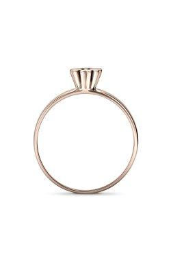 Золотое кольцо с бриллиантом алеста из красного золота 585-й пробы с бриллиантом (1515683)