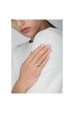 Серебряное обручальное кольцо american широкое из родированного серебра 925-й пробы (110339 )