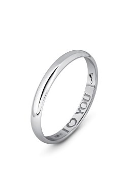 Серебряное обручальное кольцо с гравировкой из родированного серебра 925-й пробы (110 1 )