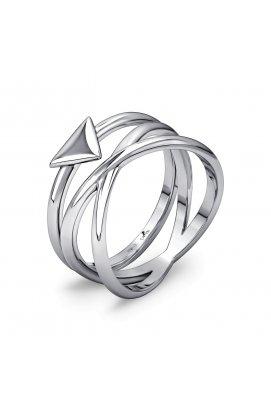 Тройное кольцо набор из двух колец из родированного серебра 925-й пробы (11 07 )