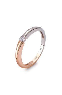 Золотое кольцо «сокровища пустыни» 15 из белого золота 585-й пробы из красного золота 585-й пробы с куб. циркониями (1 6253)