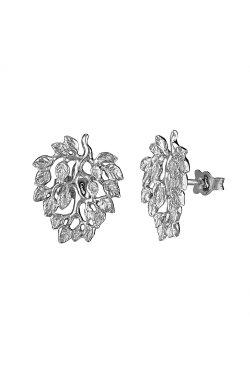 Серебряные серьги пусеты дерево любви из родированного серебра 925-й пробы ( 13052 1)