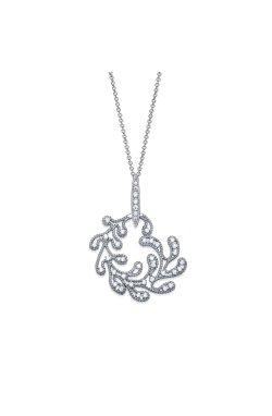 Серебряный кулон изысканность из родированного серебра 925-й пробы с куб. циркониями (3 75 2)