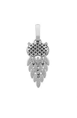 Серебряный кулон сова из родированного серебра 925-й пробы с куб. циркониями (3 330 )