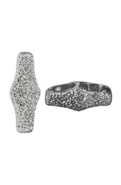 Переходник на браслет из родированного серебра 925-й пробы (311348 )
