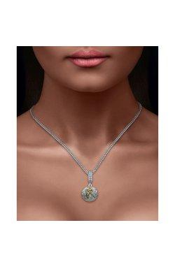 Серебряный шарм подвеска знак зодиака водолей из родированного серебра 925-й пробы (311247 )