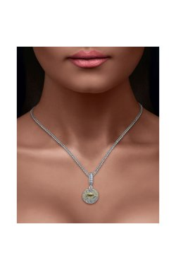 Серебряный шарм подвеска знак зодиака рак из родированного серебра 925-й пробы (311251 )