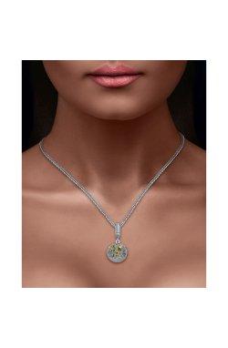 Серебряный шарм подвеска знак зодиака близнецы из родированного серебра 925-й пробы (311245 )