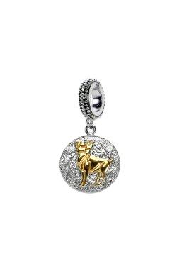 Серебряный шарм подвеска знак зодиака овен из родированного серебра 925-й пробы (311243 )