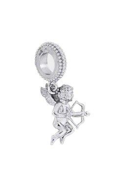 Серебряный шарм купидончик из родированного серебра 925-й пробы (3112 )
