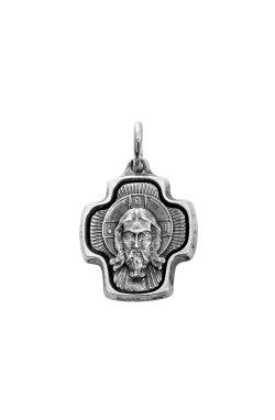 Серебряный кулон крестик из родированного серебра 925-й пробы (310744 )