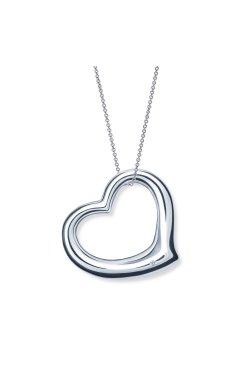 Кулон с бриллиантом сердце серебро из родированного серебра 925-й пробы с бриллиантом (35104623)