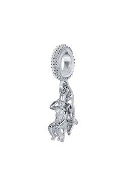 Серебряный шарм love is… из родированного серебра 925-й пробы (311284 )