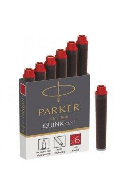 Картриджи для ручек Parker Quink Mini /6шт. крас. 11 510R