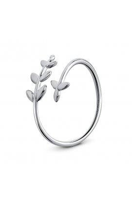 Подарочное кольцо лиственная нежность из родированного серебра 925-й пробы (11 77 )
