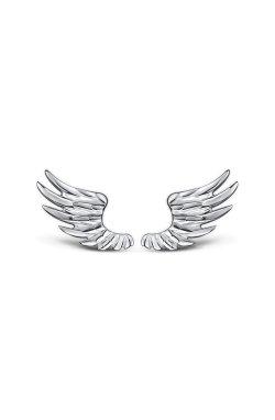 Серьги крылья ангела из серебра из родированного серебра 925-й пробы ( 47 )