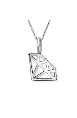 Серебряный кулон бриллиант из родированного серебра 925-й пробы (31 94 )
