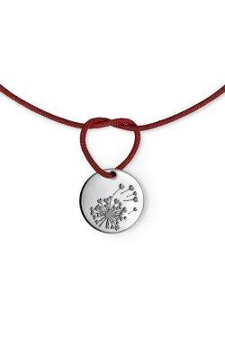 Серебряный браслет одуванчик из родированного серебра 925-й пробы (51 98 )