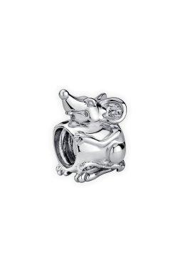 Серебряная бусина подвеска мышка small из родированного серебра 925-й пробы (31 7 2)