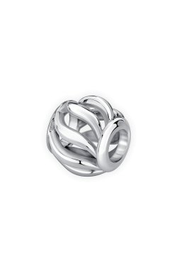 Серебряная круглая бусина волна small из родированного серебра 925-й пробы (31 34 )