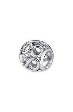 Серебряная бусина шарм инфинити small из родированного серебра 925-й пробы (3112342 1)