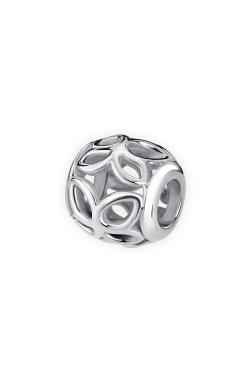 Круглая серебряная бусина бабочки small из родированного серебра 925-й пробы (31 35 )