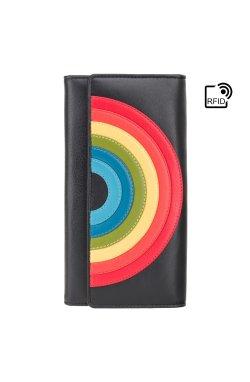 Женский кошелек Visconti HR80 (Black Rainbow)
