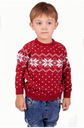 Свитер Рождественский со звездами мальчику