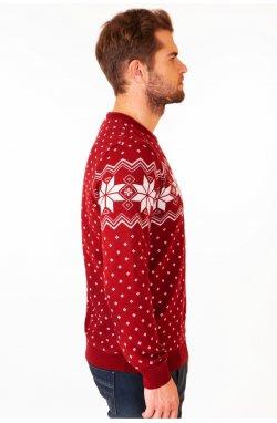 Свитер Рождественский со звездами мужской