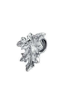 Серебряный шарм кленовый лист small из родированного серебра 925-й пробы (31 8 2)