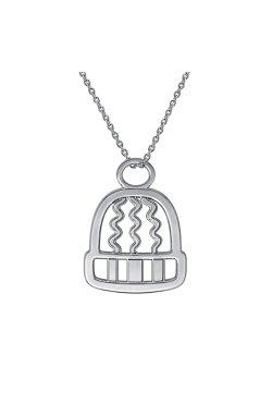 Серебряный подарочный кулон зимнее настроение из родированного серебра 925-й пробы (31 88 )