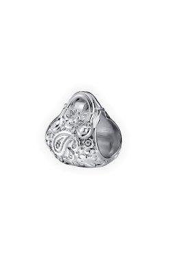 Серебряная бусина подвеска цветочная сумочка из родированного серебра 925-й пробы (31 94 )